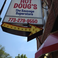 Photo taken at Hot Doug's by Josh T. on 5/17/2012