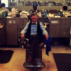 Photo taken at Exchange Barber Shop by Jacob S. on 9/10/2012