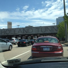 Photo taken at Holland Tunnel Toll Plaza by Gunther P. on 5/6/2012