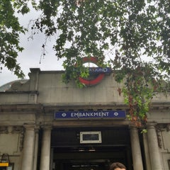 Photo taken at Embankment London Underground Station by Nick R. on 7/18/2012