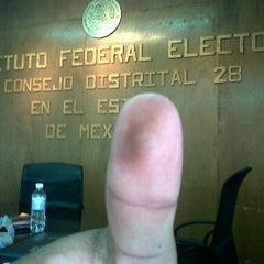 Photo taken at Junta Distrital Ejecutiva No. 28 IFE by Gus B. on 7/1/2012