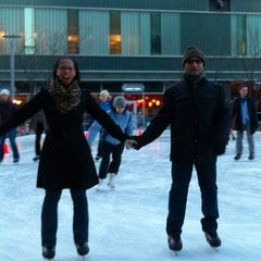 Photo taken at Kendall Square Community Ice Skating by Chris H. on 3/11/2012