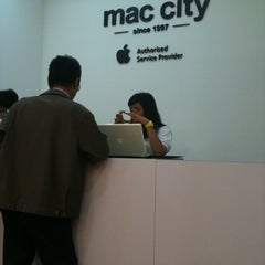 Photo taken at Mac City by Elly Salleh on 2/13/2012