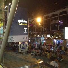 Photo taken at วินมอเตอร์ไซค์ (MRT สุทธิสาร) by Jirasak on 6/21/2012
