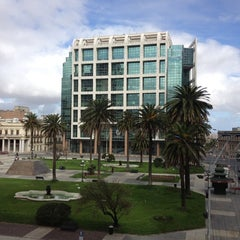 Photo taken at Plaza Independencia by Alexandre O. on 8/26/2012