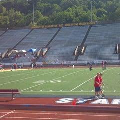 Photo taken at University of Charleston Stadium at Laidley Field by Katie M. on 6/2/2012