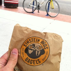 Photo taken at Einstein Bros Bagels by Gregory W. on 7/15/2012