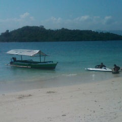 Photo taken at Pantai Mutun by Agust Y. on 7/5/2012