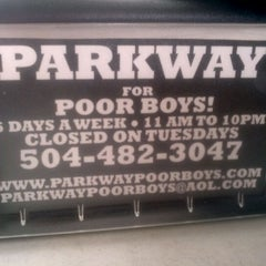 Photo taken at Parkway Bakery & Tavern by Reign S. on 2/29/2012