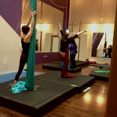 Photo taken at Night Flight Aerial Arts Studio by Sera F. on 3/10/2012