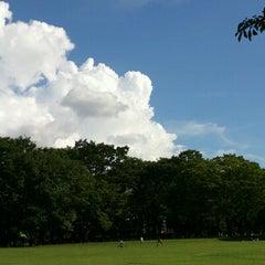 Photo taken at 小金井公園健康広場 by Jin Y. on 9/8/2012