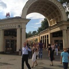 Photo taken at Метро Кропоткинская (metro Kropotkinskaya) by Никита A. on 7/14/2012