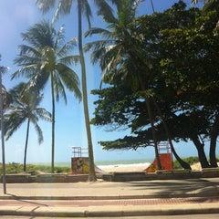 Photo taken at Praia do Pina by Zezinho ♌. on 8/22/2012