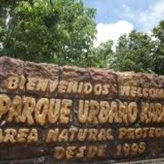Photo taken at Parque Urbano Kabah by Rodrigo R. on 6/18/2012