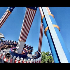 Photo taken at Six Flags Great America by Brandon T. on 6/27/2012