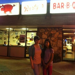 Photo taken at Rustys Bar-B-Q by Eve R. on 6/8/2012