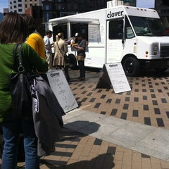 Photo taken at Clover Food Truck (Dewey Sq) by Lindsey F. on 4/20/2012