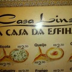 Photo taken at Casa Lins A Casa Da Esfiha by Felipe S. on 2/25/2012