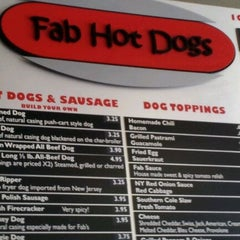 Photo taken at Fab Hot Dogs by Marsha C. on 5/6/2012