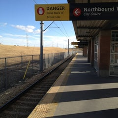 Photo taken at Canyon Meadows (C-Train) by Jeff I. on 3/21/2012