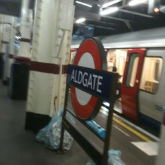 Photo taken at Aldgate London Underground Station by Julian S. on 3/13/2012