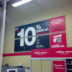Photo taken at Office Depot by Brian S. on 9/12/2012