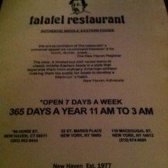 Photo taken at Mamoun's Falafel Restaurant by TJ J. on 2/29/2012