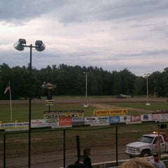 Photo taken at Albany-Saratoga Speedway by Bryan J. on 6/8/2012
