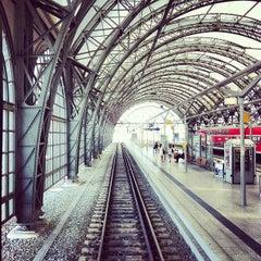 Photo taken at Dresden Hauptbahnhof by Juan E. on 8/16/2012