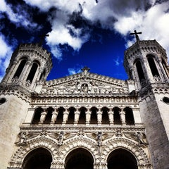 Photo taken at Basilique Notre-Dame de Fourvière by Kwisty M. on 5/6/2012