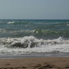 Photo taken at Platja del Prat by La meva Barcelona on 8/15/2012