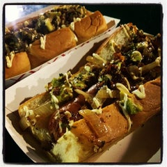 Photo taken at Dogzilla Hot Dogs Truck by Maicol C. on 9/13/2012