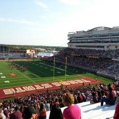 Photo taken at Bobcat Stadium by Brant K. on 9/8/2012