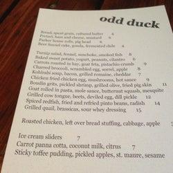 Odd Duck corkage fee