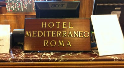 Photo of Roof Deck Hotel Mediterraneo at Via Cavour 15, Roma, Italy