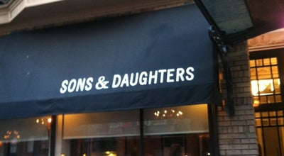 Photo of American Restaurant Sons and Daughters at 708 Bush St, San Francisco, CA 94108, United States