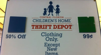 Photo of Thrift / Vintage Store Thrift Depot Central Florida Children's Home at 821 S Us Highway 17 92 # 101, Longwood, FL 32750, United States