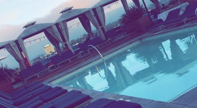 Photo of Roof Deck Rooftop pool at the SIXTY at 9360 Wilshire Blvd, Beverly Hills, CA 90212, United States