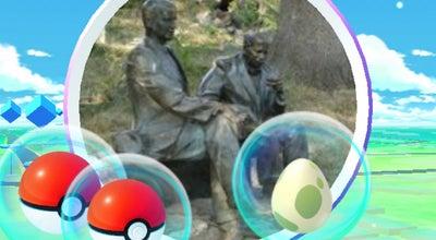 Photo of Monument / Landmark Пам'ятник Ерделі і Бокшай / Monument to Erdeli & Bokshai at Альпінарій, Ужгород, Ukraine