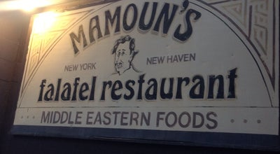 Photo of Middle Eastern Restaurant Mamoun's Falafel Restaurant at 85 Howe St, New Haven, CT 06511, United States