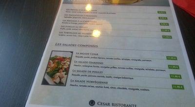 Photo of Italian Restaurant Cesar Ristorante at 74 Rue Gaston Baratte, Villeneuve-d'Ascq 59493, France