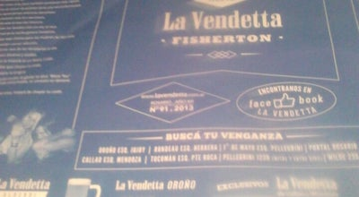 Photo of Pizza Place La Vendetta Avenida at Av Pellegrini 1230, Rosario 2000, Argentina