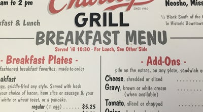 Photo of American Restaurant Charlry's Grill at 225 S Wood St, Neosho, MO 64850, United States