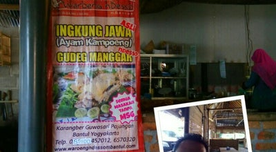 Photo of Asian Restaurant Warung nDeso at Kampung Wisata Bathok Santan Karangber Guwosari Pajangan Bantul, Bantul-DIY, Indonesia