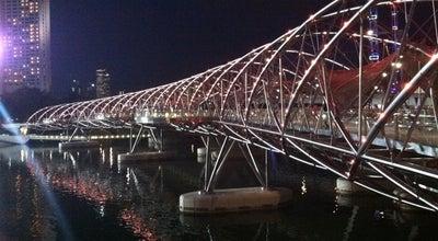 Photo of Bridge The Helix Bridge at Marina Bay, Singapore 038981, Singapore