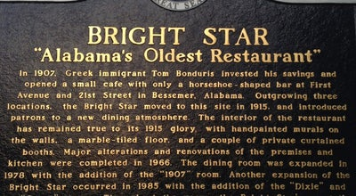 Photo of New American Restaurant The Bright Star at 304 19th St N, Bessemer, AL 35020, United States