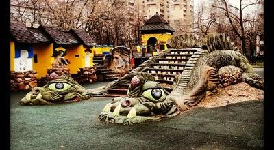 Photo of Playground Площадка с драконом at Зельев Пер., Москва, Russia