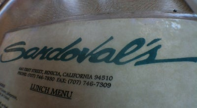 Photo of Mexican Restaurant Sandoval's at 640 1st St, Benicia, CA 94510, United States