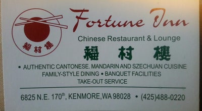 Photo of Chinese Restaurant Fortune Inn at 6825 Ne 170th St, Kenmore, WA 98028, United States