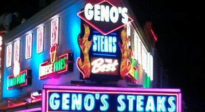 Photo of Sandwich Place Geno's Steaks at 1219 S 9th St, Philadelphia, PA 19147, United States